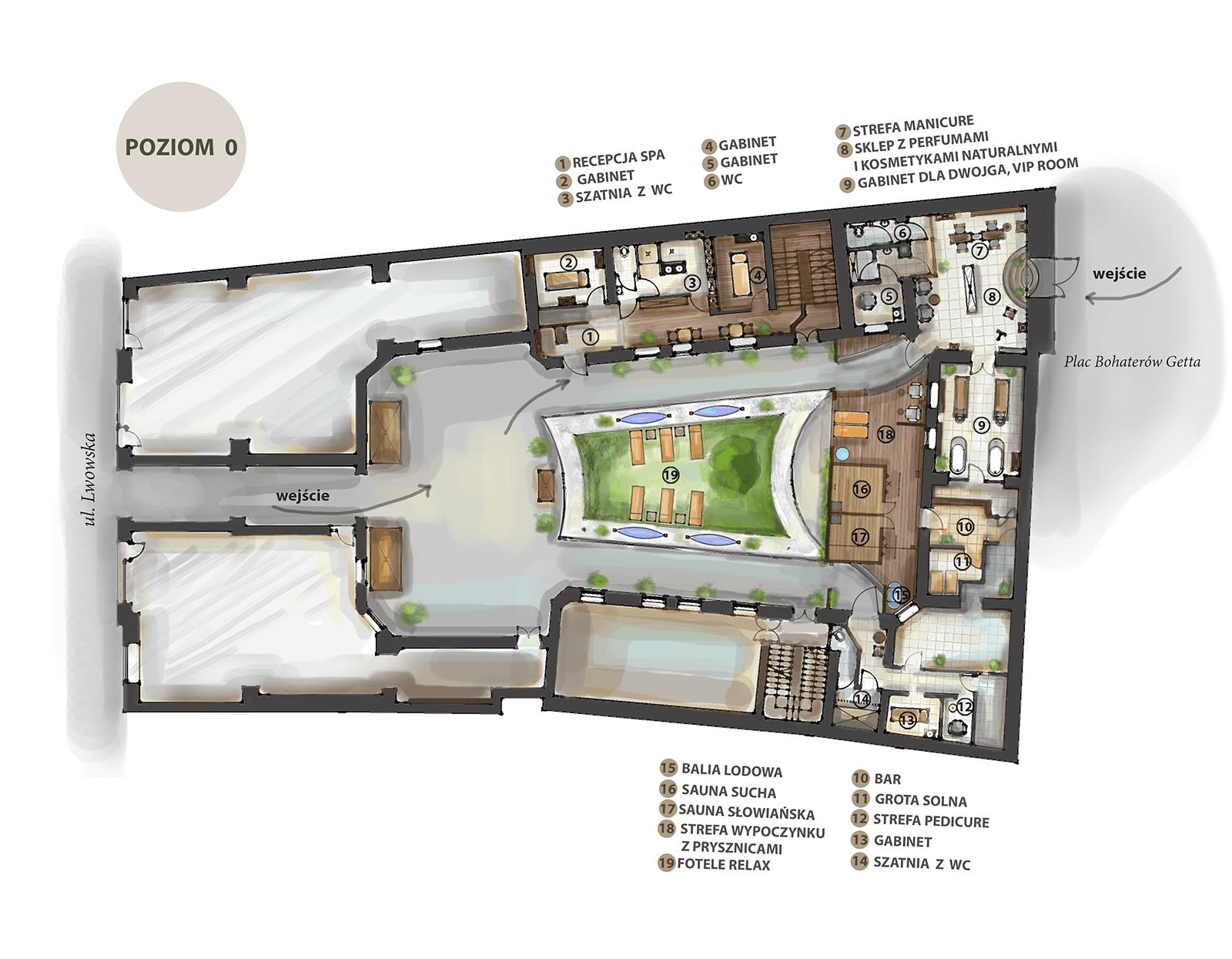 piwnica spa & wellness mapa ośrodka